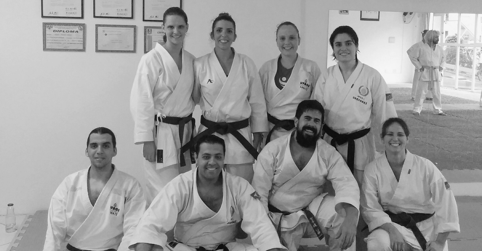 Haupenthal Sensei and Frosi Sensei, leaders of Canada and Brazil with members of the Institute
