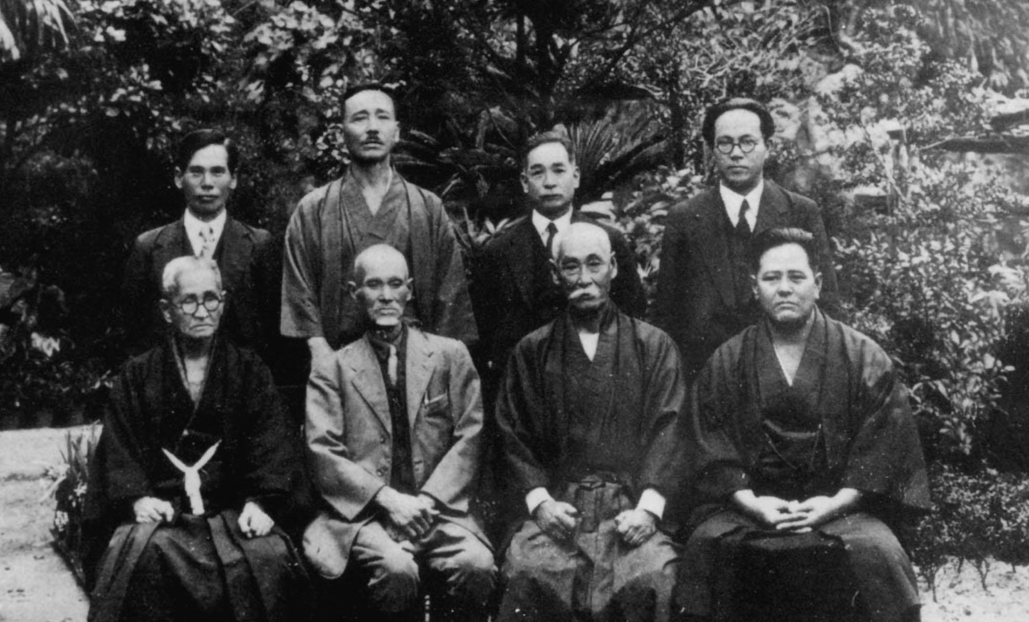 Meeting of Okinawan karate masters