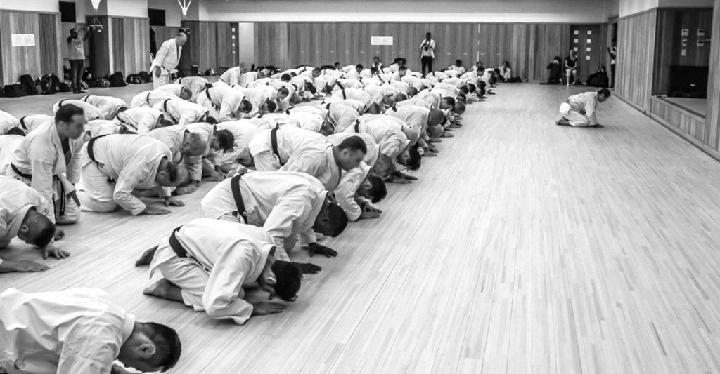 First Karate Class - Bowing